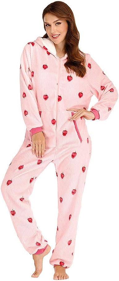 Bella HXR Pijama de mujer de algodón ligero, mono entero de mujer ...