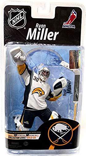 Ryan Miller Buffalo - McFarlane Toys NHL Sports Picks Series 26 Action Figure Ryan Miller (Buffalo Sabres) White Jersey Gold Collector Level Chase