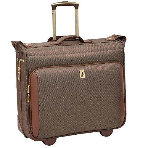 London Fog Kensington Ultra-Lightweight Collection 44inch Wheeled Garment Bag, Bronze ()