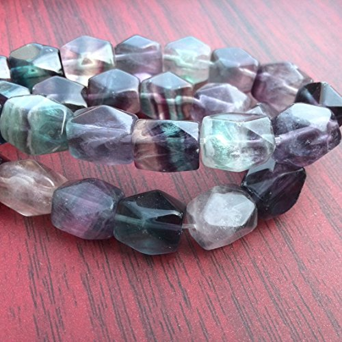 Natural Fluorite Beads Chunky Nugget Stone Faceted Beads 15 inches Strand