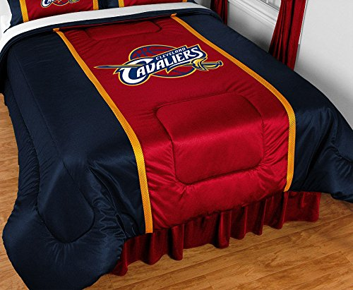 Cleveland Cavaliers NBA 4 Pc TWIN Comforter Set (Comforter, 1 Pillow Case, 1 Sham, 1 Bedskirt) SAVE BIG ON BUNDLING! by NBA