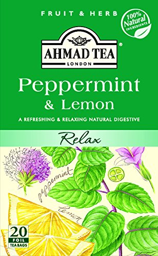 Ahmad Tea - Peppermint & Lemon Tea 20 Bags - 30g