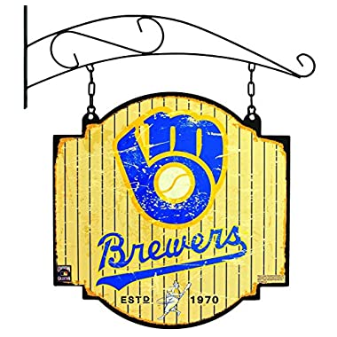 MLB Milwaukee Brewers Tavern Sign, One Size, Blue