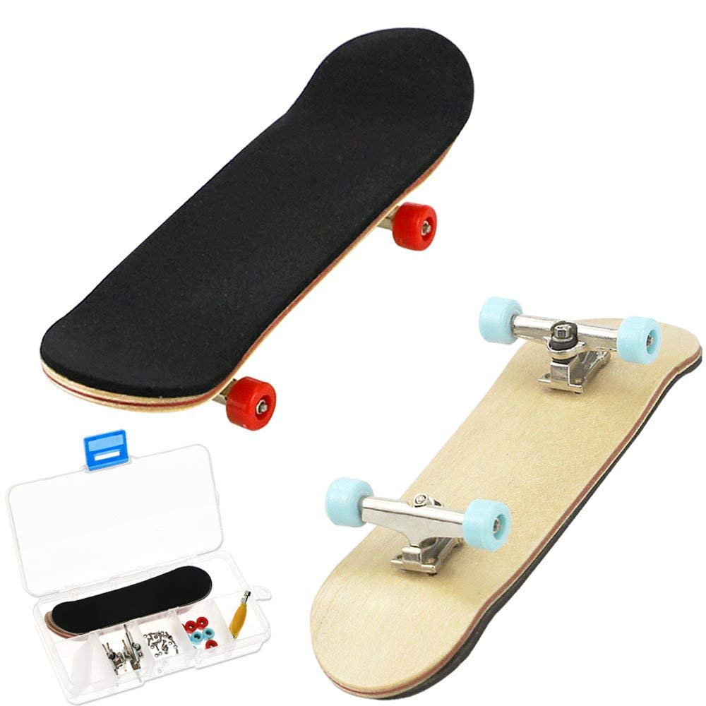 HEHALI 2 PCS Wooden Professional Mini Fingerboards Finger Skateboard by HEHALI