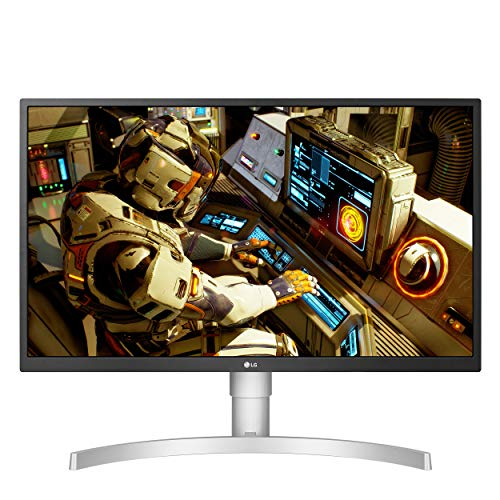 LG 27UL550-W 27 Inch 4K UHD IPS LED HDR Monitor with Radeon Freesync Technology and HDR 10, Silver (Best Value Gaming Monitor 2019)
