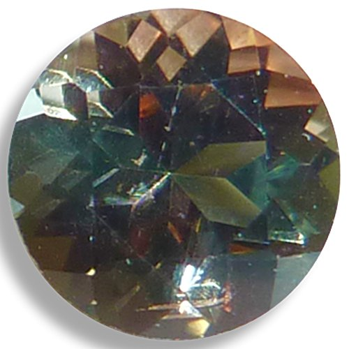 Natural Andalusite Salmon/Green Round Brilliant Loose Unset Gem (5mm)