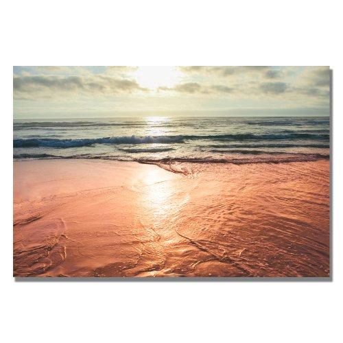 Sunset Beach Reflections by Ariane Moshayedi, 35×47-Inch Canvas Wall Art