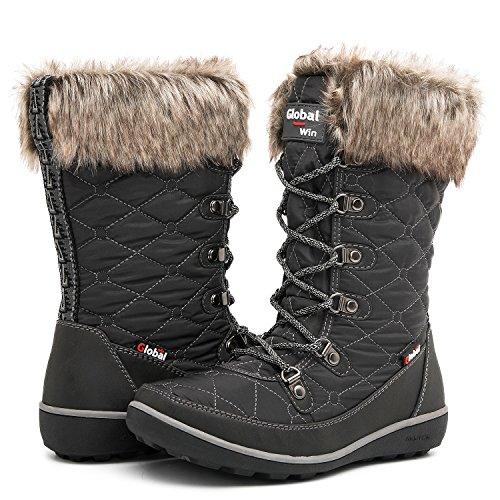 GLOBALWIN Women's 1731 Winter Waterproof Snow Boots  US Wome