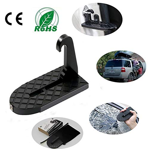 Buy Discount MORE1 Car Doorstep Hooked On Vehicle U Shaped Slam Latch Folding Ladder Foot Pegs Pedal...
