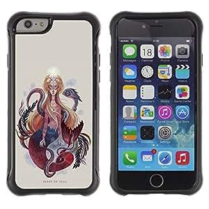 Be-Star único patrón Impacto Shock - Absorción y Anti-Arañazos Funda Carcasa Case Bumper Para Apple iPhone 6(4.7 inches) ( Serpent Woman Spirituality Snake Art Painting )