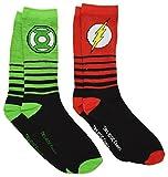 The Flash Green Lantern Crew Socks 2 Pair Pack