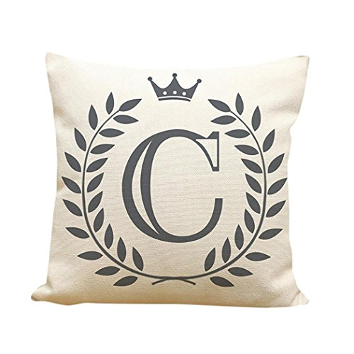 Training Throw Pillow (Zulmaliu Pillowcases, Creative English 26-Letter ABC Print Sofa Pillow Case for Library Book Store Coffee store (Color C))