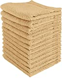 Utopia Towels 600 GSM Washcloths, 12 Pack, Beige