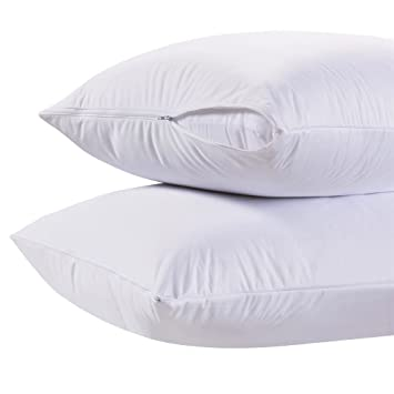 Beddengoed, bedlinnen Luxury 4 Quilted Pillow Protector 4 Protectors Poly Cotton Hotel Quality SALE
