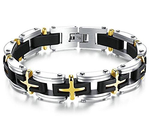 Amazon.com: Gnzoe Men Stainless Steel Bracelet, Bangle ...