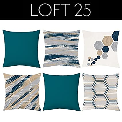 retail prices best sell hot sale online Loft 25 'Hex Collection' 6 Piece Printed Scatter Cushion Set ...