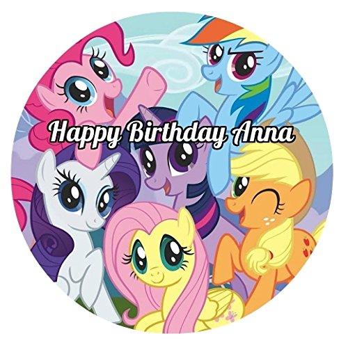 My Little Pony Round Edible Image Photo Cake Topper Sheet...