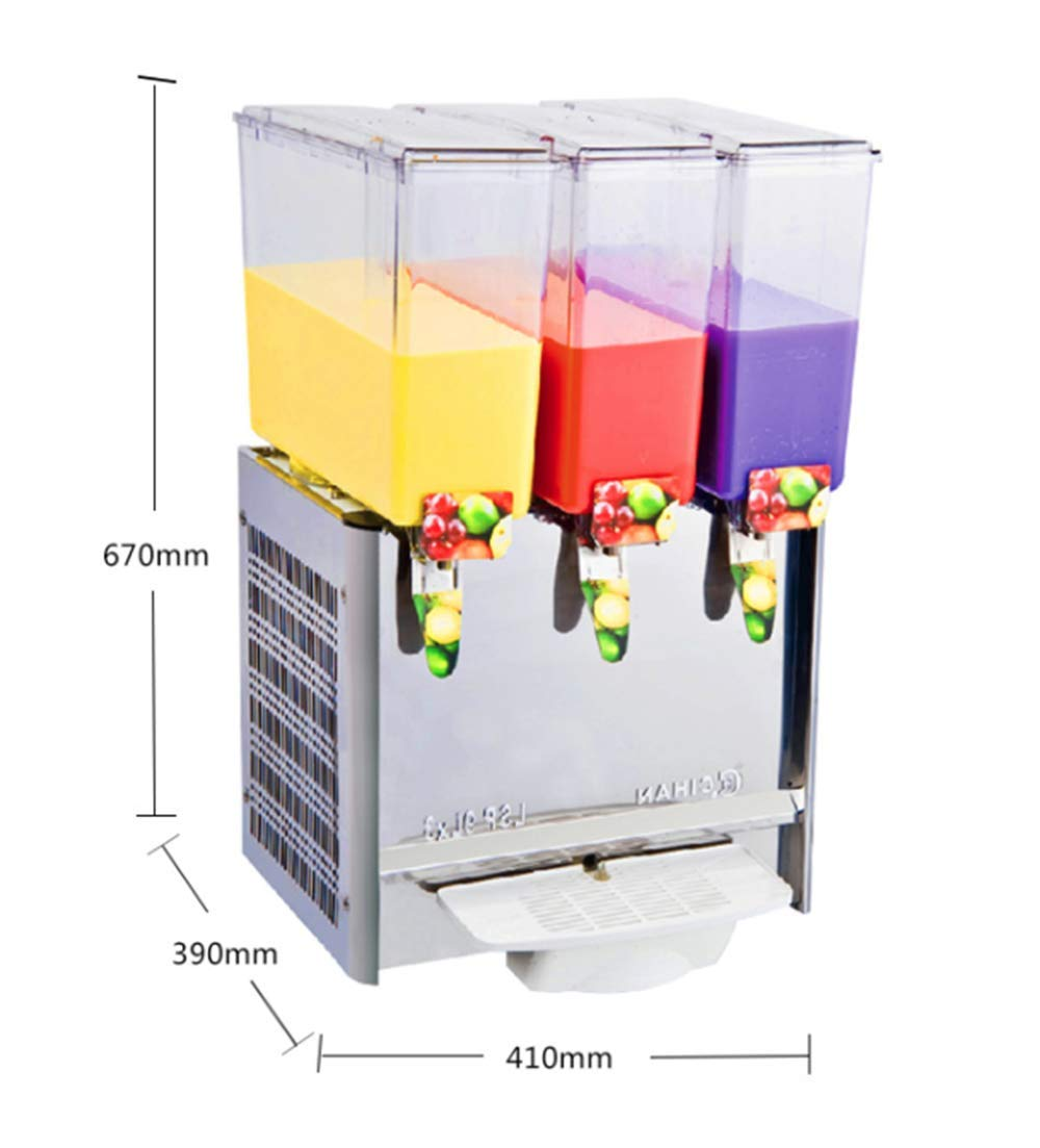 CGOLDENWALL Stainless Steel Beverage Machine Commercial Automatic Juice Dispenser Cold&Hot Drink Machine Cold Beverage Machine Beer Machine 9L Double/Three/Four Tanks (Single Cold, Three Tanks) by CGOLDENWALL (Image #3)