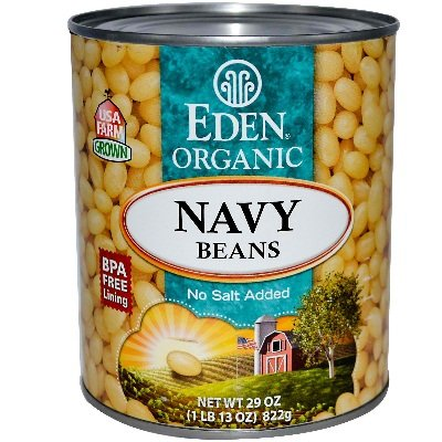 Eden Foods Organic Navy Beans, 29-ounce Cans (Case of 12) by Edensoy