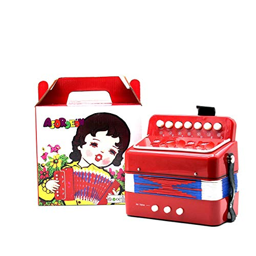 - Gessence 1PC Mini Kids Accordion 7-Key 3 Bass Educational Childrens Beginner Practice Music Instrument Band Toy
