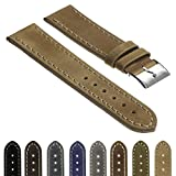 StrapsCo Quick Release Vintage Top Grain Leather Watch Band Strap Made in Spain 16mm 18mm 20mm 22mm 24mm 26mm