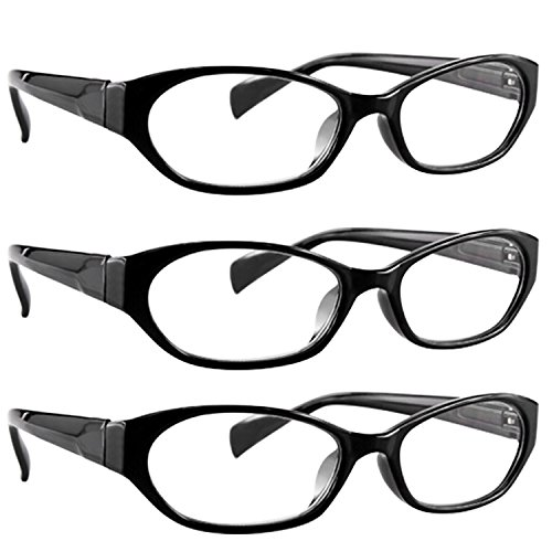 Deal Prime (Reading Glasses 2.75 3 Black (3 Pack) 9502 TruVision Readers)