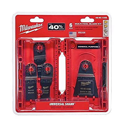 Milwaukee 48-90-1006 6 pc. Multi-Tool Blade Kit