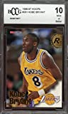 #3: 1996-97 hoops #281 KOBE BRYANT los angeles lakers rookie card BGS BCCG 10 Graded Card