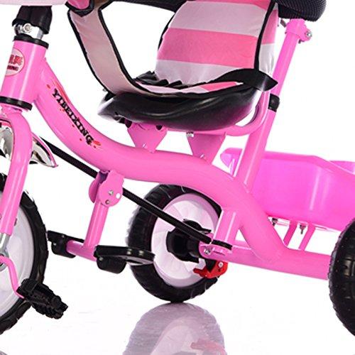 Triciclo de niños bicicleta simple interior y exterior 0.5-7 años de edad carbono acero rosa bicicleta: Amazon.es: Juguetes y juegos