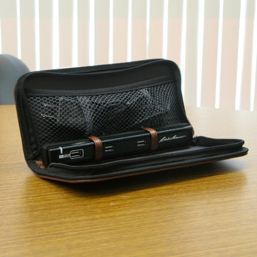 Totes-ISOTONER 230549 Portable Charging Fold-Out Valet with Sync Cables by Eddie Bauer