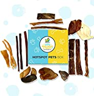 Hotspot Pets Box - All Natural Dog Chews and Treats Subscription Box for Large Dogs & Aggressive Che