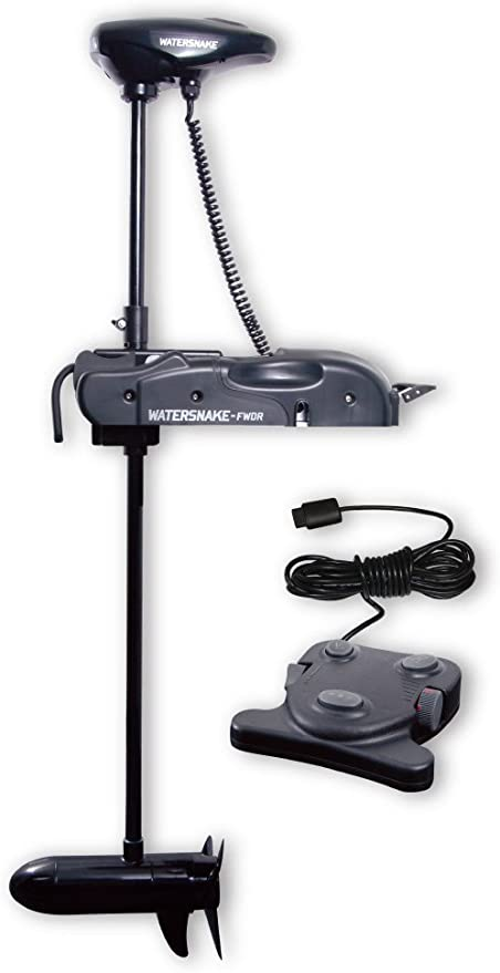 """Black Haswing 12V 55LBS 48/""""Bow Mount Electric Trolling Motor with Foot Control"""
