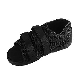 Amhuui Sandalia Walker Botas, Zapato de Punta Abierta postoperatoria para apósitos voluminosos después de pie, talón, Puntera, Operaciones de juanete: ...