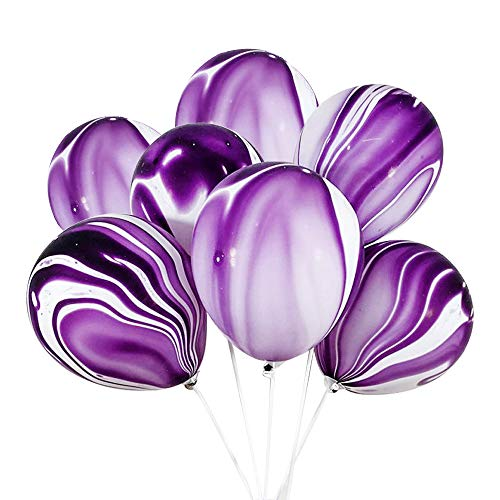 100 Pcs Marble Agate Latex Balloons, 10 Inches Party Balloon Decoration for Wedding, Birthday Party, Photobooth, Backdrop -