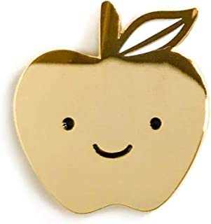 product image for Night Owl Paper Goods Golden Apple Enamel Pin, Gold