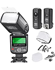 Neewer PRO i-TTL Camera Flash Kit Compatible with Nikon DSLR D7100 D7000 D5300 D5200 D5100 D5000 D3200 D3100 D3300 D90 D800 D700 Camera: VK750II Auto-Focus Flash, Wireless Trigger and Accessories