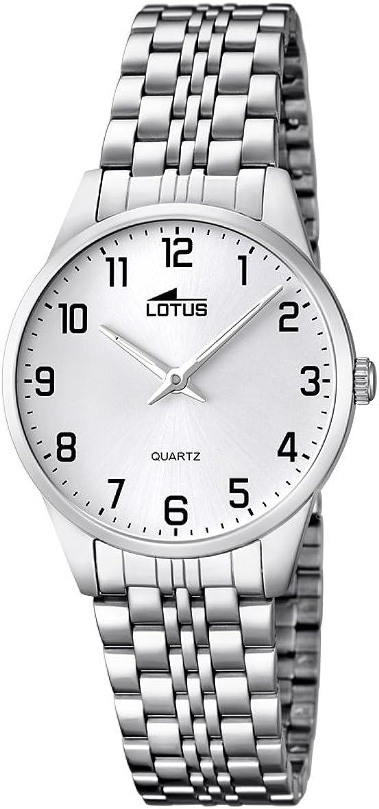 Lotus 15884/1 - Reloj de Cuarzo para Mujer, con Correa de Acero Inoxidable, Color Plateado