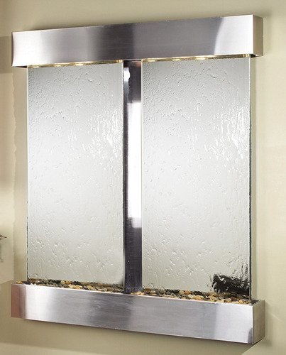 - Adagio Cottonwood Falls Wall Fountain Silver Mirror Stainless Steel - CFS2040