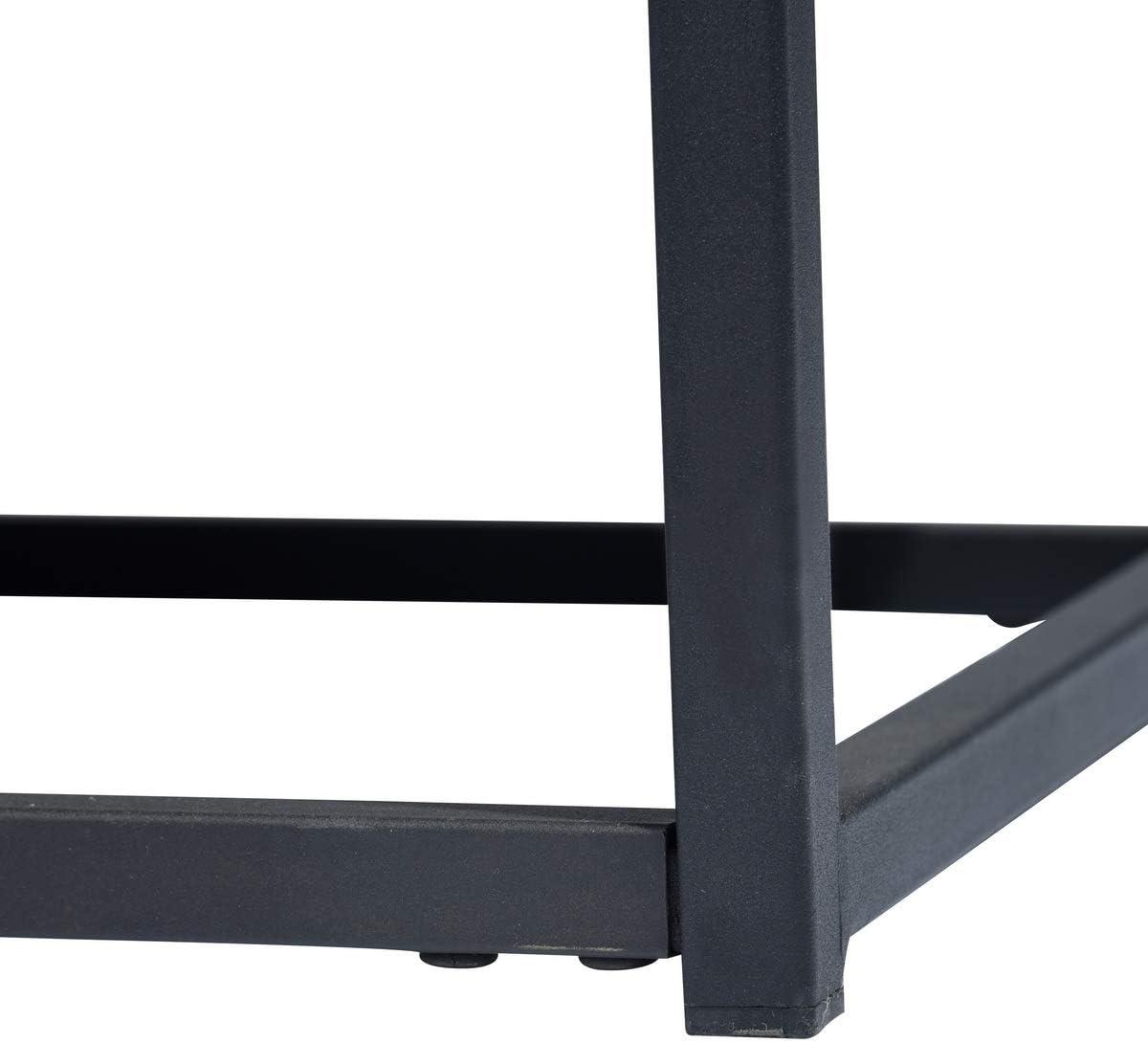 Bout de canap/é,Structure en m/étal et d/'Un Dessus en Bois FURNISH1 Table d/'appoint Table Basse//anguleuse pour Salon Style Industriel