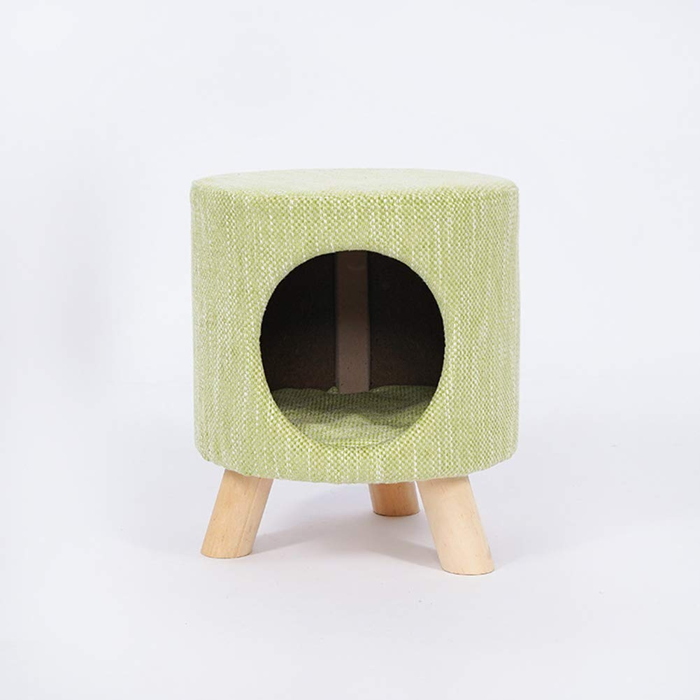 LILIJIA Four Seasons Universal Semi-Enclosed Pet Nest People Pet Dual-use Solid Wood Support Triangle Structure Tripod Stable and Reliable Easy to Bear Weight 100kg,Green by LILIJIA