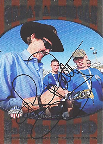 (AUTOGRAPHED Richard Petty 2014 Wheels American Thunder GREAT AMERICAN LEGEND (#43 STP Racing) Signed Collectible NASCAR Insert Trading Card with COA (#GAL/10))