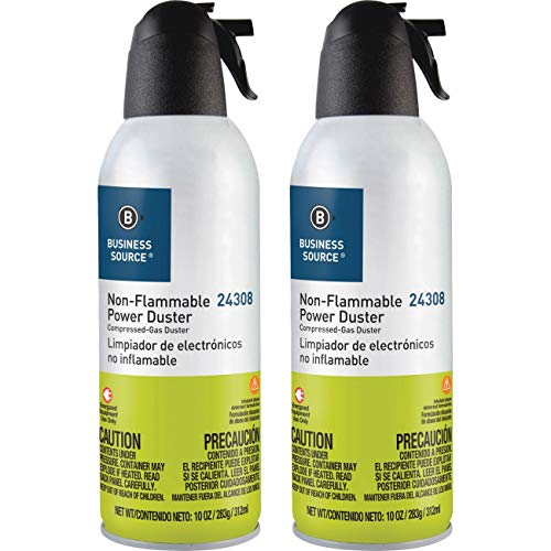 Compucessory Products - Power Duster Plus, Nonflammable, 10 oz. Can, 2/PK - Sold as 1 PK - Nonflammable Power Duster safely cleans and removes dust from computer and hard-to-reach places. Formula is 100 percent nonflammable and ozone-safe. by Compucessory (Image #1)