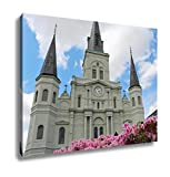 Ashley Canvas Cathedral And Flowers, Home Office, Ready to Hang, Color 20x25, AG6546343