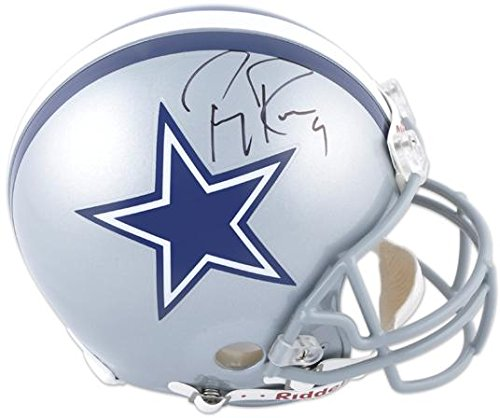 Tony Romo Dallas Cowboys Autographed Pro-Line Riddell Authentic Helmet - Fanatics Authentic Certified (Romo Helmet Autographed Tony)