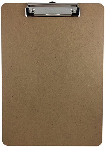 Trade Quest Letter Size Clipboard Low Profile Clip Hardboard Single (Pack of 1)