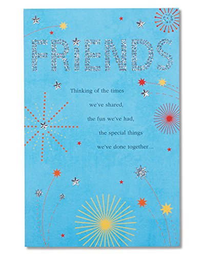 American Greetings So Lucky Birthday Card for Friend with Glitter