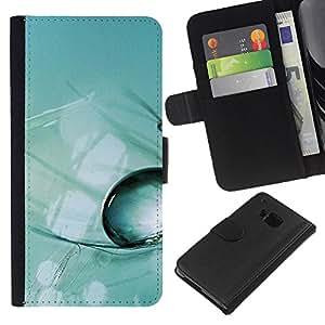 KLONGSHOP // Tirón de la caja Cartera de cuero con ranuras para tarjetas - Planta Naturaleza Forrest Flor 48 - HTC One M7 //