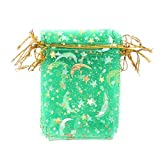 okdeals 10pcs Organza Drawstring Pouches Favor Bags Candy Jewelry Wedding Gift Samples Display Wrap Bags(S,Green)