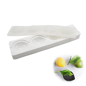Moldes de silicona con 4 agujeros en 3D para decoración de pasteles, pasteles, pasteles