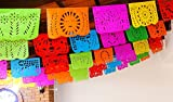 Cinco de Mayo Party Decorations, Papel Picado Banner, 50 ft Long, Multicolored tissue PAPER garland, Mexican Decorations, Weddings, Quinceaneras, Birthdays, Fiesta party supplies, 5 de Mayo WS100